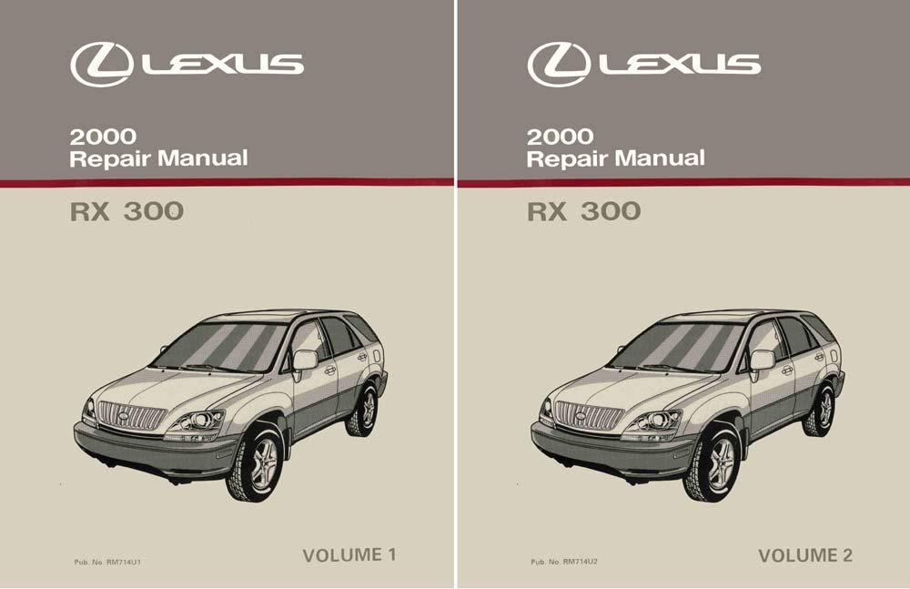 bishko automotive literature 2000 Lexus RX 300 Shop Service Repair Manual Complete Set