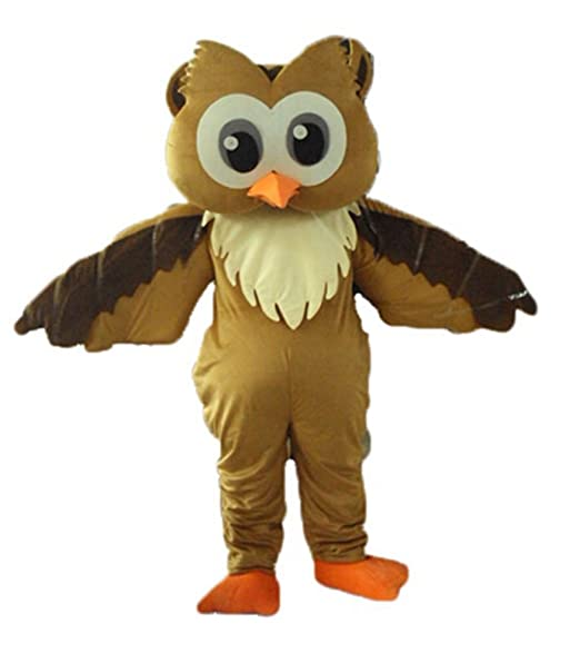 Amazon.com: Funny Adult Size Brown Owl Mascot Costume for ...