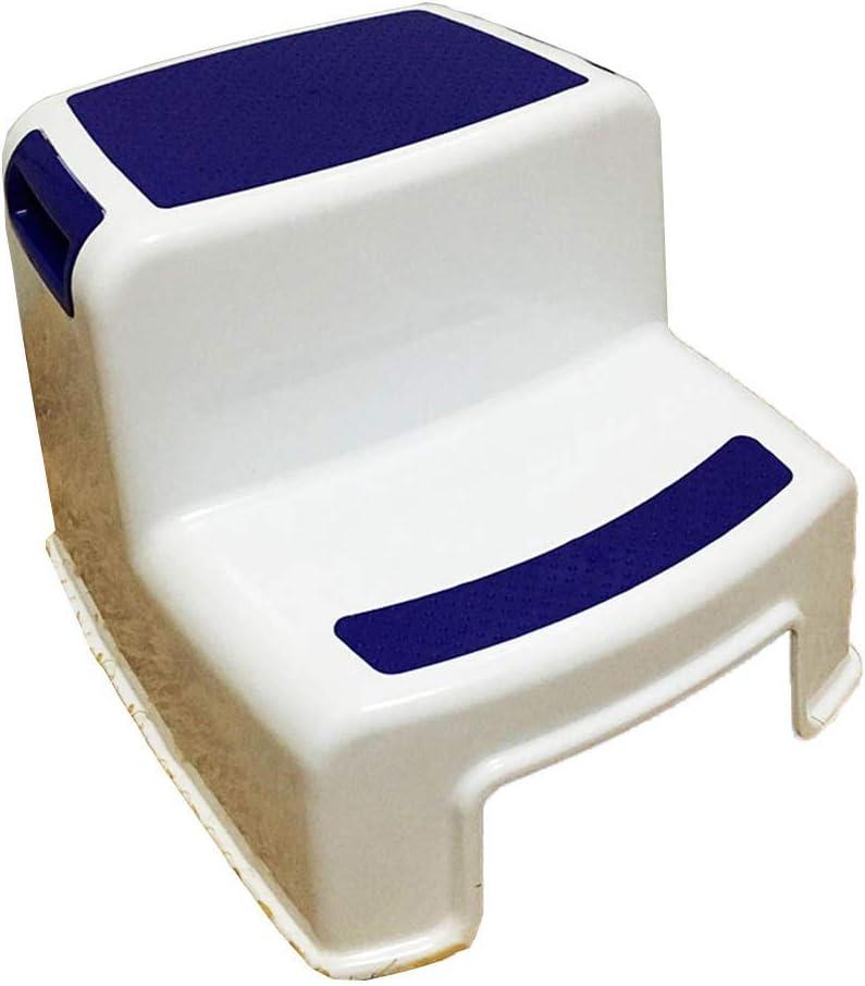 KJZ Escalera de plástico, baño Escalera antideslizante Restaurante Escalera para niños Sala de estar Dormitorio Escalera de dos peldaños Tamaño 30.5 * 36 * 26.5 CM: Amazon.es: Bricolaje y herramientas
