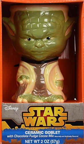 Ceramic Yoda (Star Wars Yoda Ceramic Goblet with Chocolate Fudge Cocoa Mix Gift Set)