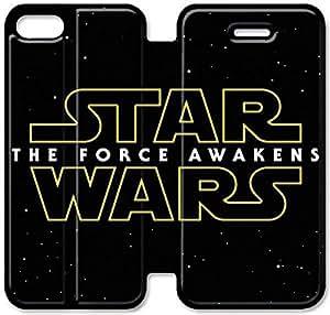 Funda iPhone 5C Funda Cuero, Klreng Walatina® 5C PU Cartera de cuero Funda Diseño por Star Wars Episodio Vii La Fuerza despierta H7E8Lb