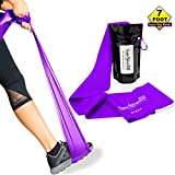 Super Exercise Band 7 ft. Long Resistance Bands. Flat Latex Free Home Gym Fitness Equipment For...