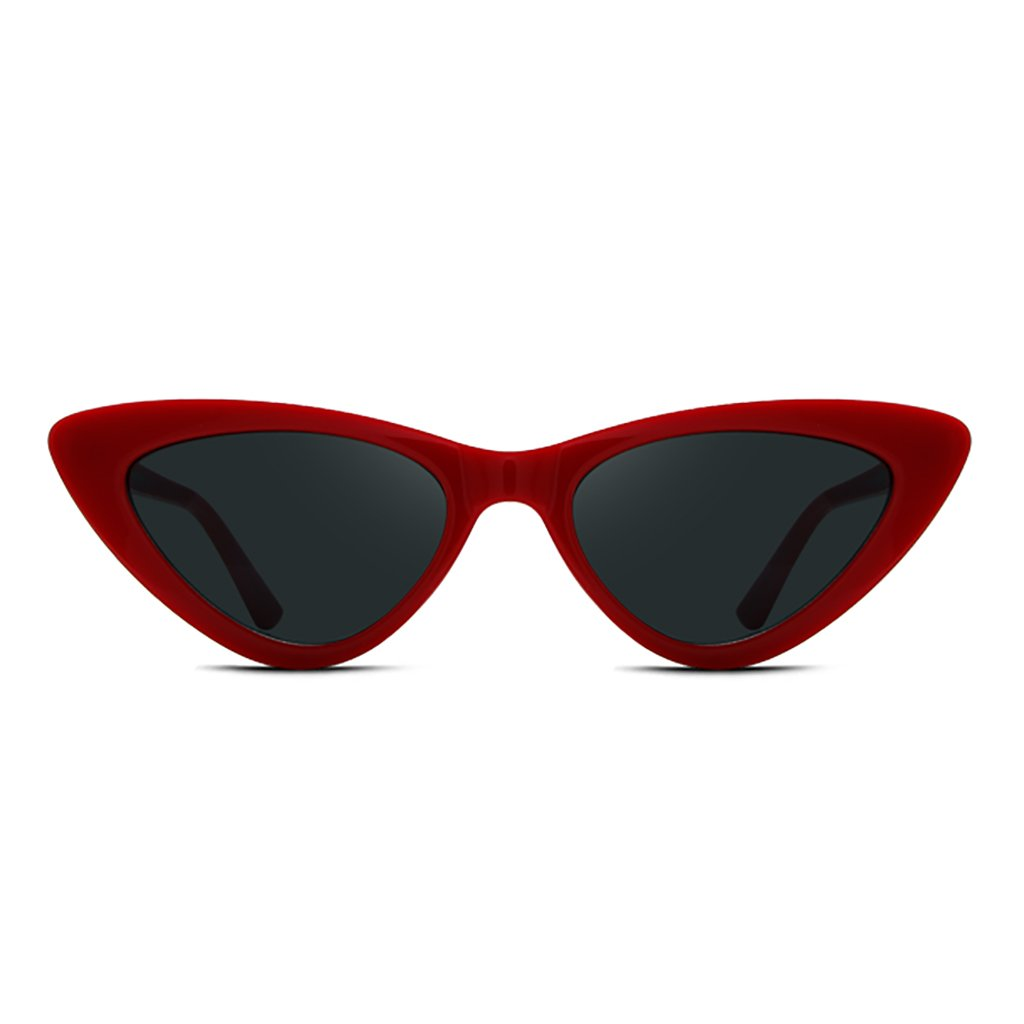 NUBAO Outdoor Products Outing Travel and Beach Must-Have Fashion Cat Eye Sunglasses Women's Box Sunglasses Fashion Glasses Women UV Protection (Color : Red)