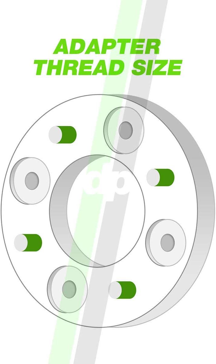 M12x1.5-74mm Wheel Spacer Kit 5x114.3//5x4.5-1 Width DPAccessories WA1414E26074//2 2 Billet Wheel Spacer Adapters