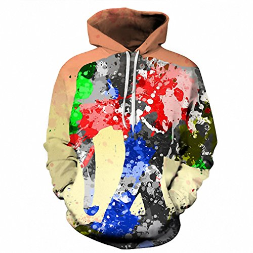 Price comparison product image Moletom 3D Print Color Blocks Men Hoodies With Hat Thin Tops Harajuku Graphic Casual Sweatshirts Hoodies Plus Size XXXL