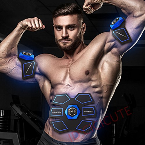 cicicute Smart EMS Massager Muscle Abdomen Fat Burning Training Gear ABS Abdominal Muscles Trainer Fit Body Home Exercise Shape Fitness Tool