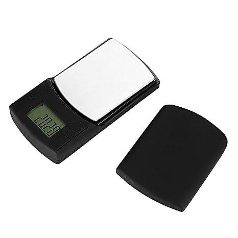 Xiaochou@sl Dispositivo de Equilibrio de balanza electrónica Digital de Alta precisión para joyería de 100 g x 0,01 g, Pantalla LCD de 1.1 Pulgadas, ...