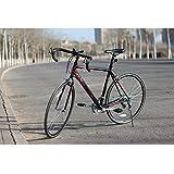 IDS Unyousual U 14 Speed 700C Road Bike Racing Bicycle, Shimano Gear Double Wall Rim Caliper Brake, Black