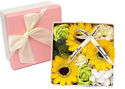 [スポンサー プロダクト]ソープフラワー 石鹸花 カーネーション バラ ボックス入り 母の日 還暦祝い 誕生日 記念日 敬老の日 先生の日 プレゼント バレンタインデー 結婚祝い 昇進 お見舞い ギフト 造花 (カーネーション(グリーン))