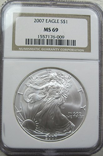 2007 American Silver Eagle Dollar MS69 NGC