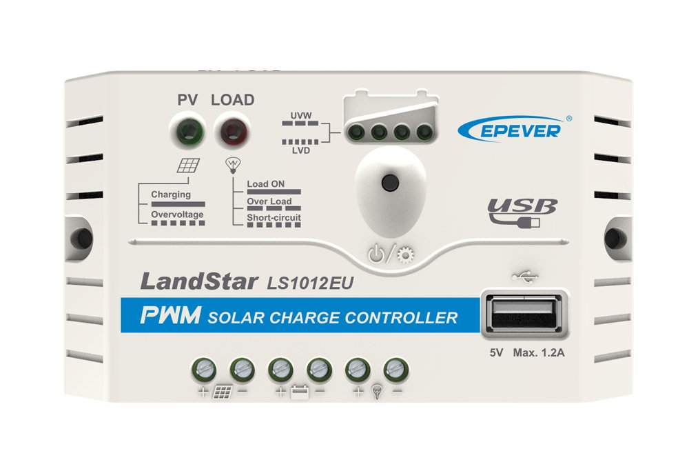 Epever® LS1012EU PWM Charge Controller Charge Controller 10A 12V with USB port SolarV®