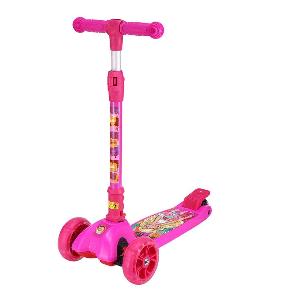 mejor calidad mejor precio AZZ Kick Scooter 3 Ruedas Scooter para niños, niños, niños, Ligero Plegable 3 Ruedas Scooters, Altura Ajustable Asiento Desmontable Scooters para niños  entrega rápida