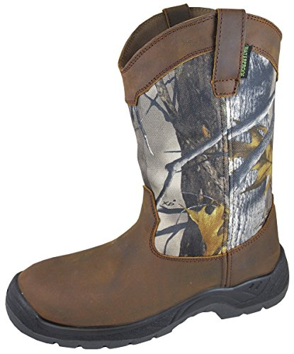 Smoky Mountain Boots Mens Brushfield Camo Crazy Leather W...