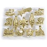 Brauns Heitmann, Decorazioni per albero di Natale, 12 pz. 83827 5-11 cm gold, Oro (Gold)