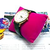 Bornzone Jewerly Pink Velvet Pillow Display for Watch Bracelet Bangle 3 1/2''x3 1/2''(Pkg of 6)