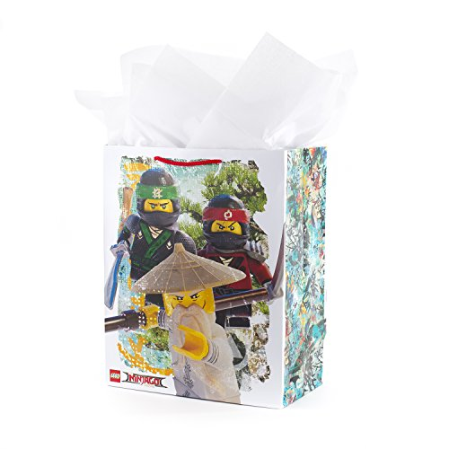 Hallmark Large Lego Gift Bag with Tissue Paper (Lego Ninjago)]()