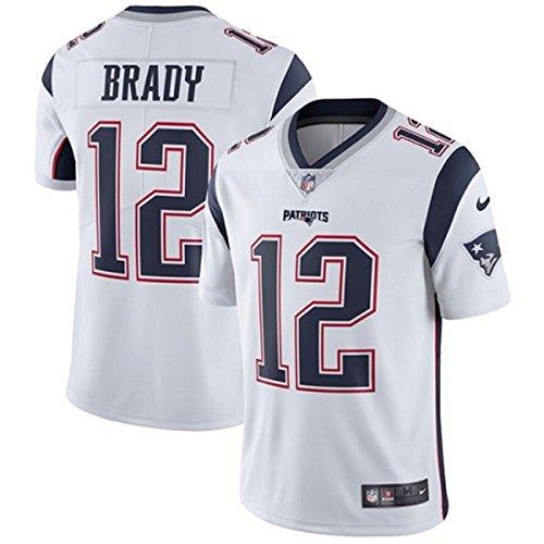 NIKE #12 New England Patriots Tom Brady Men's White Football Jersey ()