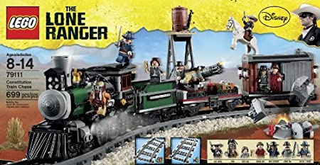 Amazon.com: LEGO® Disney® The Lone Ranger Constitution Train Chase w ...