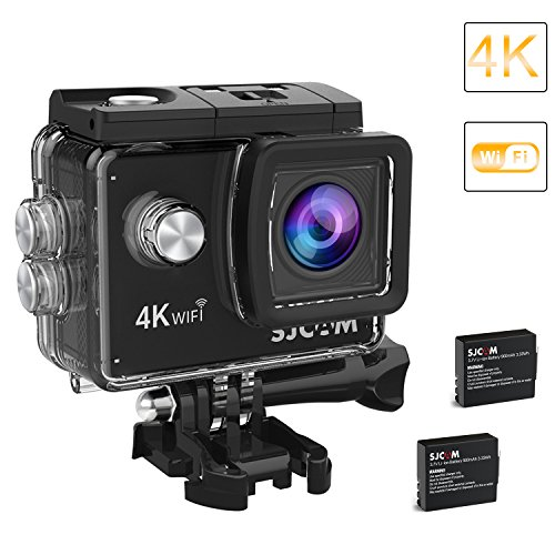 - 2018-Original SJCAM SJ4000 Air Action Camera 4K WiFi Underwater Cam 16MP Ultra HD Waterproof Sports Camera 170°Wide-Angle 2 Inch LCD 2 Rechargeable 900mAh Batteries Mounting Accessories Kit