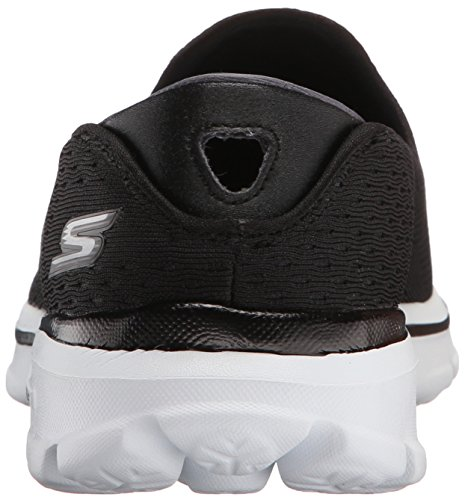 Skechers Performance Womens Go Walk 3 Dominate Walking Shoe, Black/White, 5.5 M US