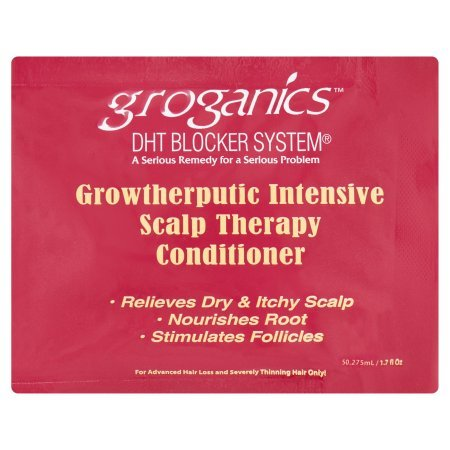 Groganics DHT Blocker System Growtherputic Intensive Scalp Therapy Conditioner 1.7 fl oz by Groganics