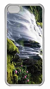 Customized iphone 5C PC Transparent Case - Waterfall 70 Personalized Cover
