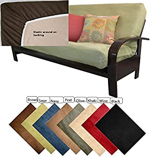 octorose full size elastic bonded micro suede easy fit fitted futon cover sofa bed mattress slipcovers amazon    lifestyle covers black full size futon cover  home      rh   amazon