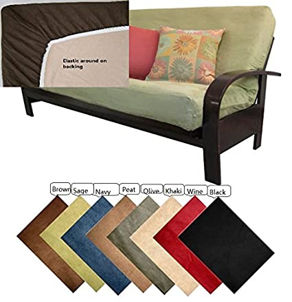 octorose full size elastic bonded micro suede easy fit fitted futon cover sofa bed mattress slipcovers amazon    octorose full size elastic bonded micro suede easy fit      rh   amazon