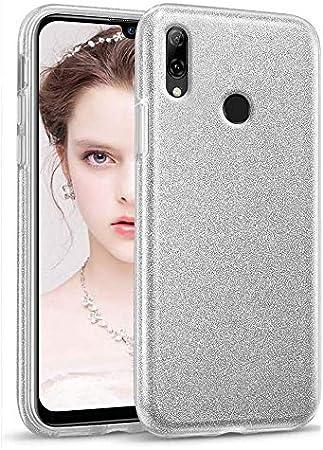 Coovertify Funda Purpurina Brillante Plateada Xiaomi Redmi Note 7, Carcasa Resistente de Gel Silicona con Brillo Gris Plata para Xiaomi Redmi Note 7 (6,3