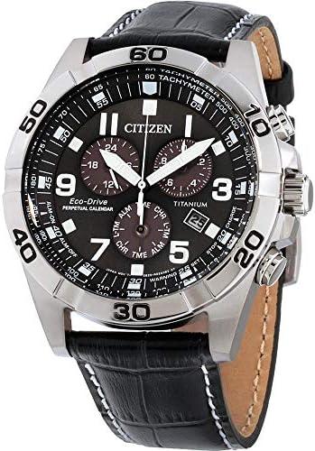 Citizen Brycen Homme 43mm Bracelet Cuir Noir Eco Drive