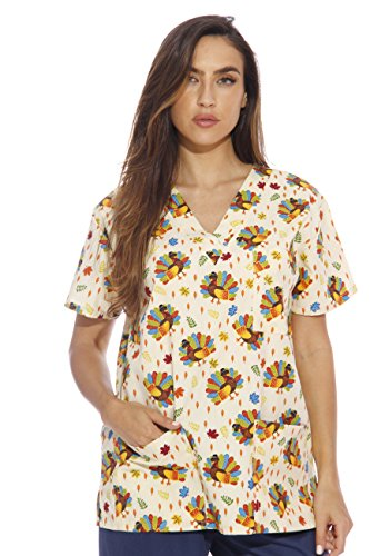 216V-8-XL Just Love Women's Scrub Tops / Holiday Scrubs / Nursing Scrubs (Halloween Scrubs)