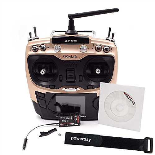 powerday Radiolink 2.4G AT9S R9DS Radio Control System 9CH Transmitter & Receiver M2+powerday straps by powerday