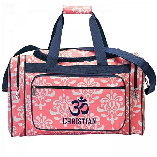 Yoga Class Christian Bag: Patterned Zippered Duffel Bag