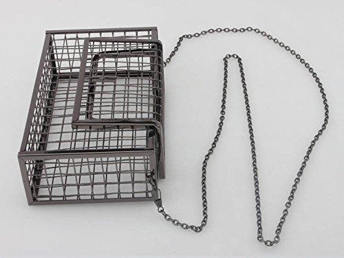 Evening Color Clutch KELAND Metal Gun Purse Party Wedding Bag Hollow Women' Cage Handbag q7wHXxwIC