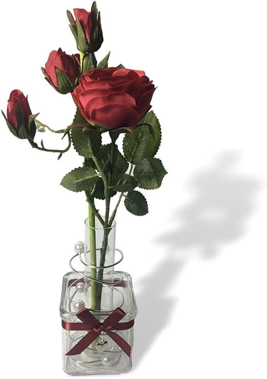 Amazon Com Banberry Designs Roses Floral Arrangement Red Roses