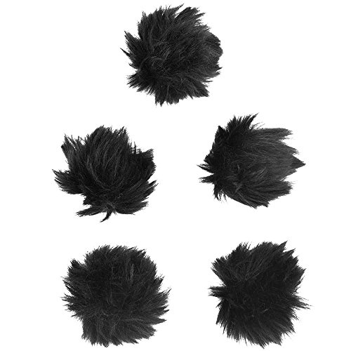 Mic Muff (eBoot 5 Pack Furry Outdoor Microphone Windscreen Muff for Most Lavalier Microphones)