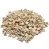 Zcaukya 500 Pcs Wooden Scrabble Tiles,Wood Letter