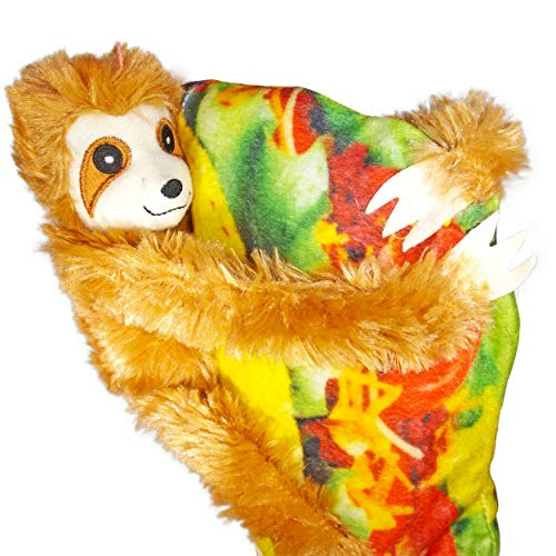 """Wonkey Brothers Taco Sloth Plush Stuffed Animal & Pillow Combo – Fun Gift for All Ages – 9"""" Set of Soft Fun (Light Brown Taco Sloth) by Wonkey Brothers"""