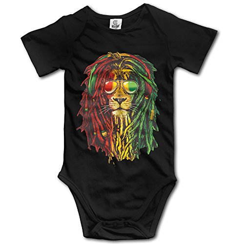 Price comparison product image Newborn Baby Lion Rasta Style Short Sleeve Romper Jumpsuit Black 24 Months