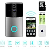 Video Doorbell, Myriann Wi-Fi Smart Doorbell, 720P HD Door Security Camera, Built-in 8G Card, Support Motion Detection, IR Night Vision, 2-Way Audio App Control iOS Android