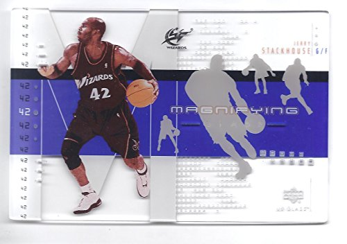 Washington Wizards Glass - JERRY STACKHOUSE 2002-03 Upper Deck UD Glass Magnifying Glass 4