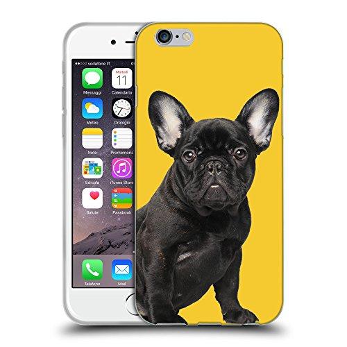 GoGoMobile Coque de Protection TPU Silicone Case pour // Q05630611 Bouledogue noir giallo banana // Apple iPhone 7