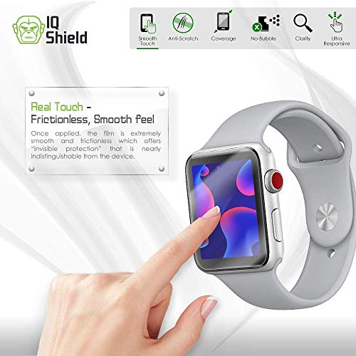 IQ Shield Screen Protector Compatible with Apple Watch 38mm (Apple Watch Series 3, 2, 1)(6-Pack)(Ultimate) Anti-Bubble Clear Film