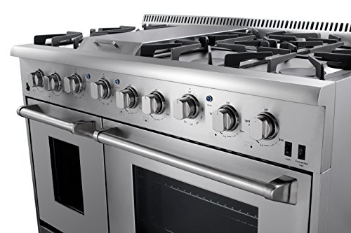 thor kitchen gas range with 6 burners and double ovens stainless steel b01dfv0piw