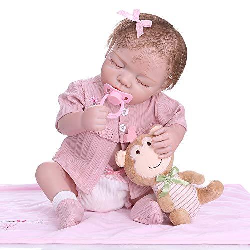 (iCradle 18''45cm Bebe Realistic Reborn Baby Gir Full Body Soft Silicone Anatomically Correct Newborn Dolls)