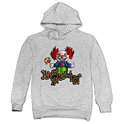 XJBD Men's Halloween Novel Hoodie Ash