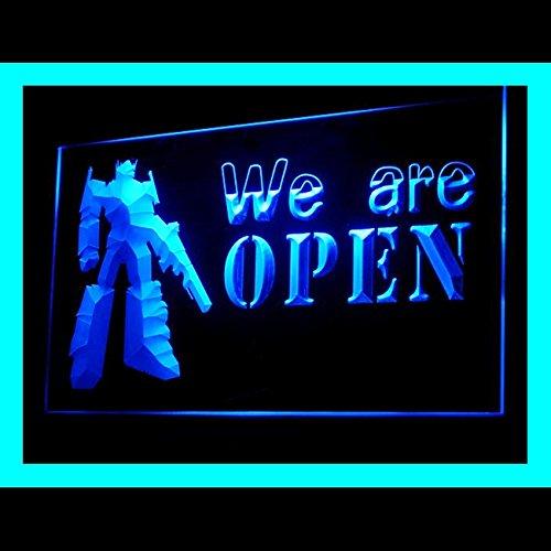 Advertising Tumbler - Open Toys Robot Gift Slinky Dog Doll Robot Tumbler Cartoon Light Sign 200080 Color Blue