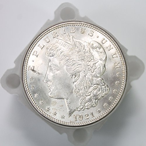 1921 P Morgan Silver Dollar Roll (20 Coins) Brilliant Uncirculated