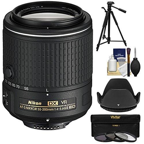 Nikon 55-200mm f/4-5.6G VR II DX AF-S ED Zoom-Nikkor Lens wi