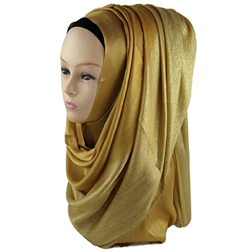 Gilroy Women Muslim Islamic Hijab Neck Head Scarf Winter Warm Long Headwear - (Long Neck Warmer)